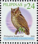 Otus megalotis 2009 stamp of the Philippines.jpg