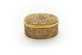 Oval ask med lock, förgyllt silver med oförgylld filigran - Skoklosters slott - 92171.tif