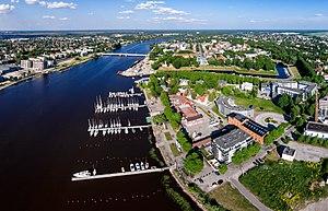 Pärnu (river) - Image: Pärnu kesklinn Aerial photo of Pärnu in Estonia