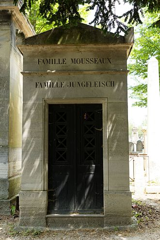 Emil Jungfleisch - The grave of Emil Jungfleish, Pere la Chaise