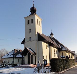 Biery Village in Silesian, Poland