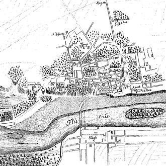 Battle of Praga (1705) - Warsaw and Praga with the connecting bridge