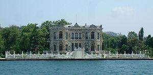 Küçüksu Palace - Küçüksu Palace seen from the Bosphorus