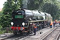 Paignton - 35028 being serviced for the Torbay Express 2018.JPG