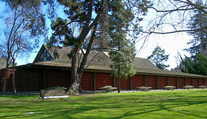 Palo Alto Main Library, opened in 1958, was de...