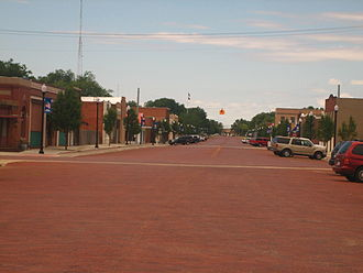 Panhandle, Texas - Brick streets in Panhandle