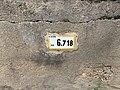 Panonceau PK 6,718 Route D51b Route Cuétant St Jean Veyle 1.jpg