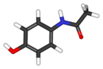Estructura química del paracetamol