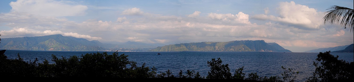 The view of Toba Lake from Samosir Island