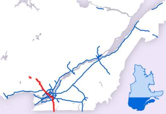 Quebec Autoroute 15 - Image: Parcours Autoroute 15