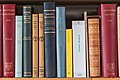 Part of a bookshelf containing books by Aristotle (Loxia 84mm F2.4).jpg