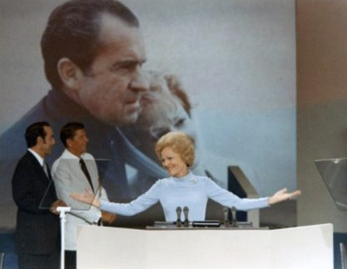 Pat Nixon speaking at Republican National Convention