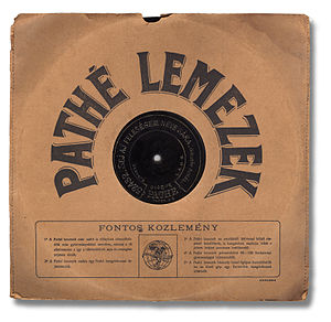Phonograph record - Hungarian Pathé record, 90 to 100 rpm