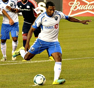 Patrice Bernier - Bernier taking a penalty for the Montreal Impact in 2013