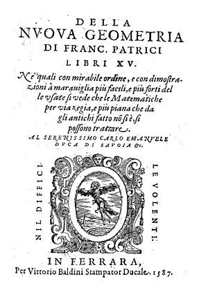Franciscus Patricius - Della nuova geometria, 1587