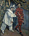 Paul Cézanne, 1888, Mardi gras (Pierrot et Arlequin), oil on canvas, 102 x 81 cm, Pushkin Museum.jpg
