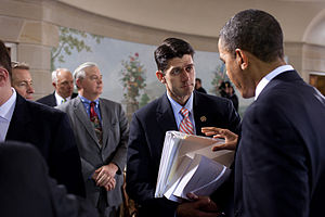 Political positions of Paul Ryan - Ryan with President Obama during a bipartisan meeting on health insurance reform, February 25, 2010