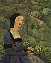 Witwe, die nach 50 datiert