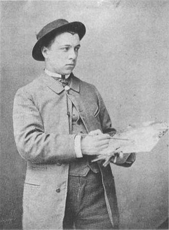 Paul Signac - Paul Signac with his palette, ca. 1883