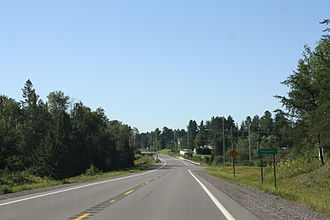 U.S. Route 45 in Michigan - US 45 entering Paulding