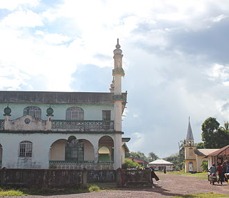 Religion in Sierra Leone - Mosque and church in Sierra Leone
