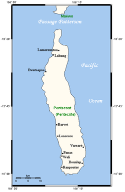 Geography of Pentecost Island
