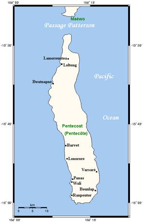 Pentecost Island - Geography of Pentecost Island
