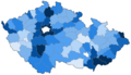 Percentage of photos of municipalities in the Czech Republic.png