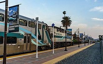 Perris–Downtown station - Image: Perris Downtown Metrolink