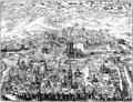 Perspective View of Paris in 1607 Fac simile of a Copper plate by Leonard Gaultier Collection of M Guenebault Paris 2.png