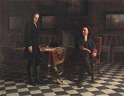 Nikolai Ge: Peter the Great Interrogating the Tsarevich Alexei Petrovich at Peterhof