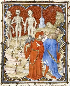 Petites Heures of Jean de France, Duc de Berry - Tale of the Three Dead and the Three Living