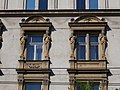 Petschacher ház (1889). Szobrok. - Budapest, Palotanegyed, József körút 27.JPG