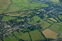 Pevensey Castle and surrounding village.jpg
