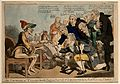 Physicians expressing their thanks to influenza. Coloured et Wellcome V0006726.jpg