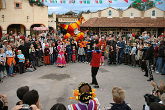 The Mexican diaspora is the world's second-largest diaspora; pictured is Mexico day celebrations in Germany. Pinata.jpg