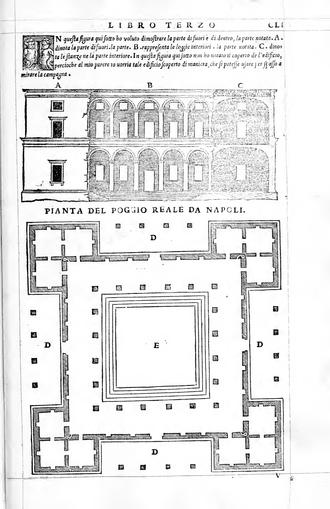 Giuliano da Maiano - Plan of the Villa Poggio Reale