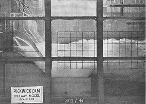 Pickwick Landing Dam - Laboratory testing for Pickwick's spillway, circa 1935-1938