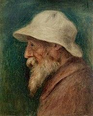 Autoportrait au chapeau blanc