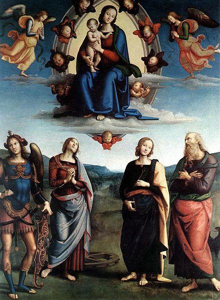 File:Pietro Perugino - Madonna in Glory with the Child and Saints - WGA17287.jpg