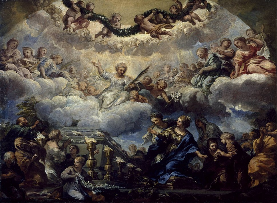 Pietro da Cortona - Saint Constantia's Vision before the Tomb of Saints Agnes and Emerentiana - Google Art Project