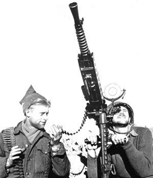 Operation Horev - An Israeli machine gun post during Operation Horev