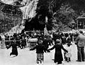Pilgrims kneeling before shrine of our Lady of Lourdes. Wellcome M0005451.jpg