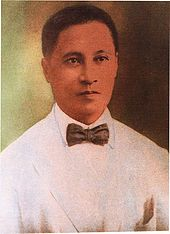 Portrait of Filipino physician and revolutionary Pio Valenzuela: the city was named after him.
