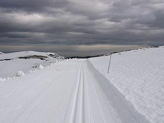 Hautacam - Cross-country skiing trail at Hautacam.