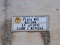 Plaça del rector Antoni Llidó i Mengual de Quatretondeta, placa.JPG