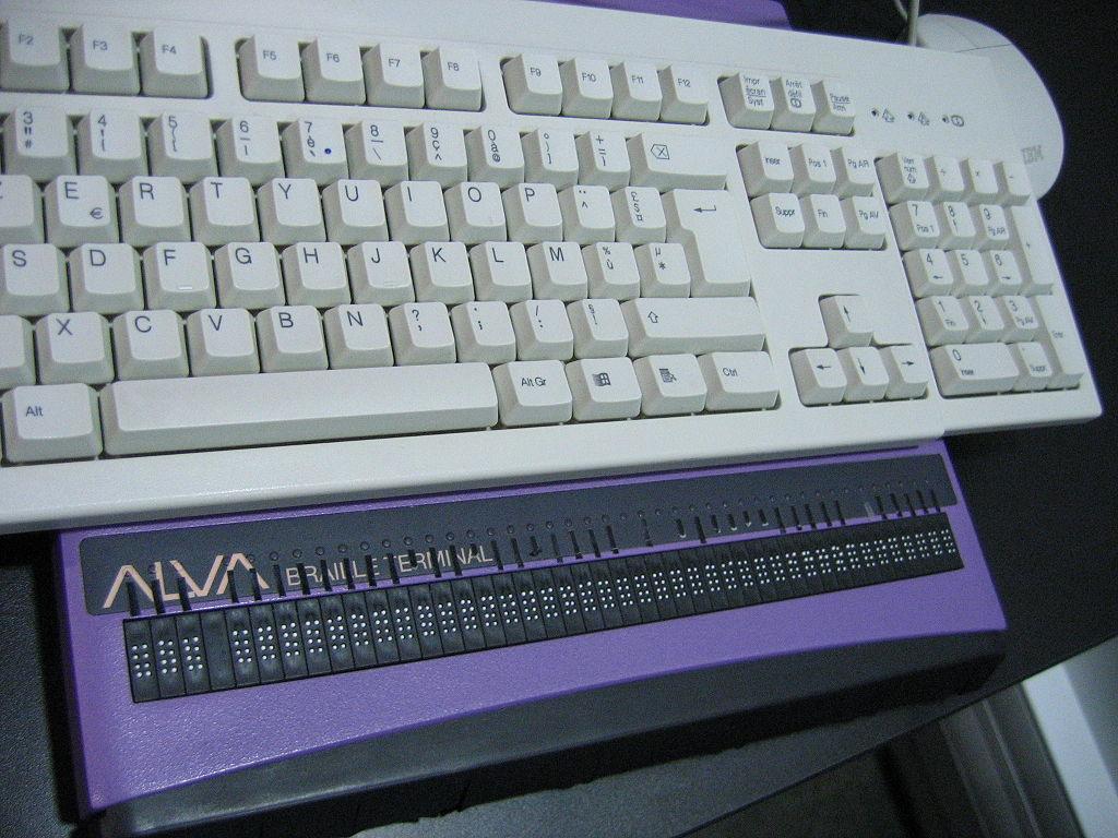 ALVA braille terminal