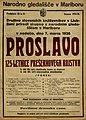 Plakat za predstavo Proslava 125-letnice Prešernovega rojstva v Narodnem gledališču v Mariboru 7. marca 1926.jpg