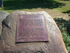 Nicolas Perrot - Plaque commemorating Nicolas Perrot, Clergue Park, Sault Ste. Marie, Ontario