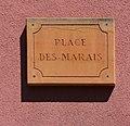 Plaque place des Marais (Villefranche-sur-Saône).jpg